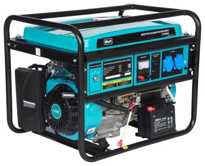 бензиновая электростанция wert g6500ed