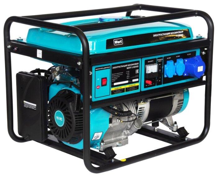 бензиновая электростанция wert g8000d