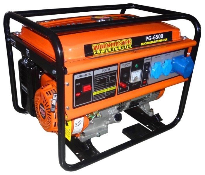 бензиновая электростанция workmaster pg-6500