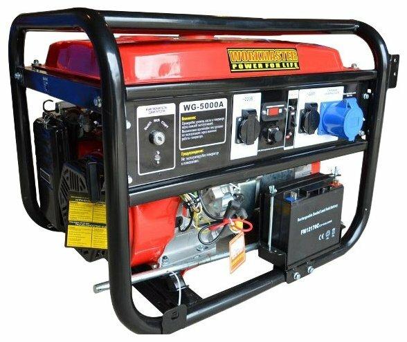 бензиновая электростанция workmaster wg-5000a