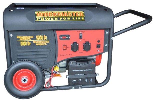 бензиновая электростанция workmaster wg-6500 e2