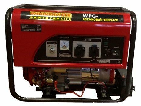 бензиновая электростанция workmaster wpg-6500