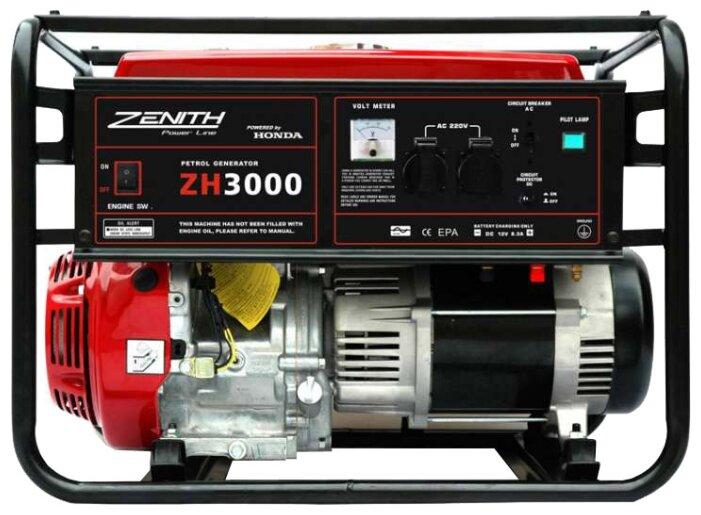 бензиновая электростанция zenith zh3000