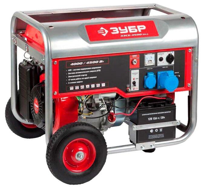 бензиновая электростанция зубр зэсб-4500-эна