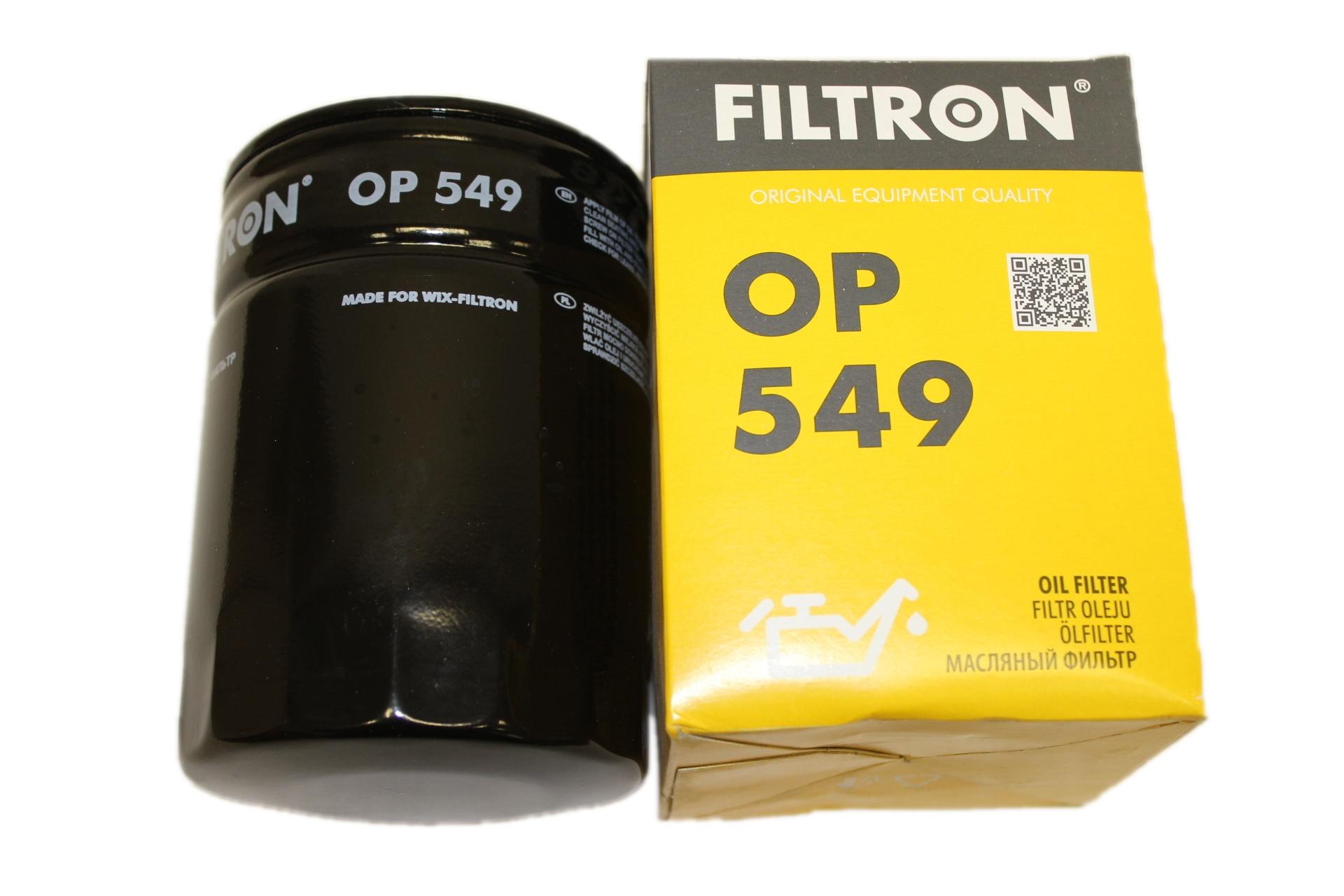 фильтр масляный filtron op 549