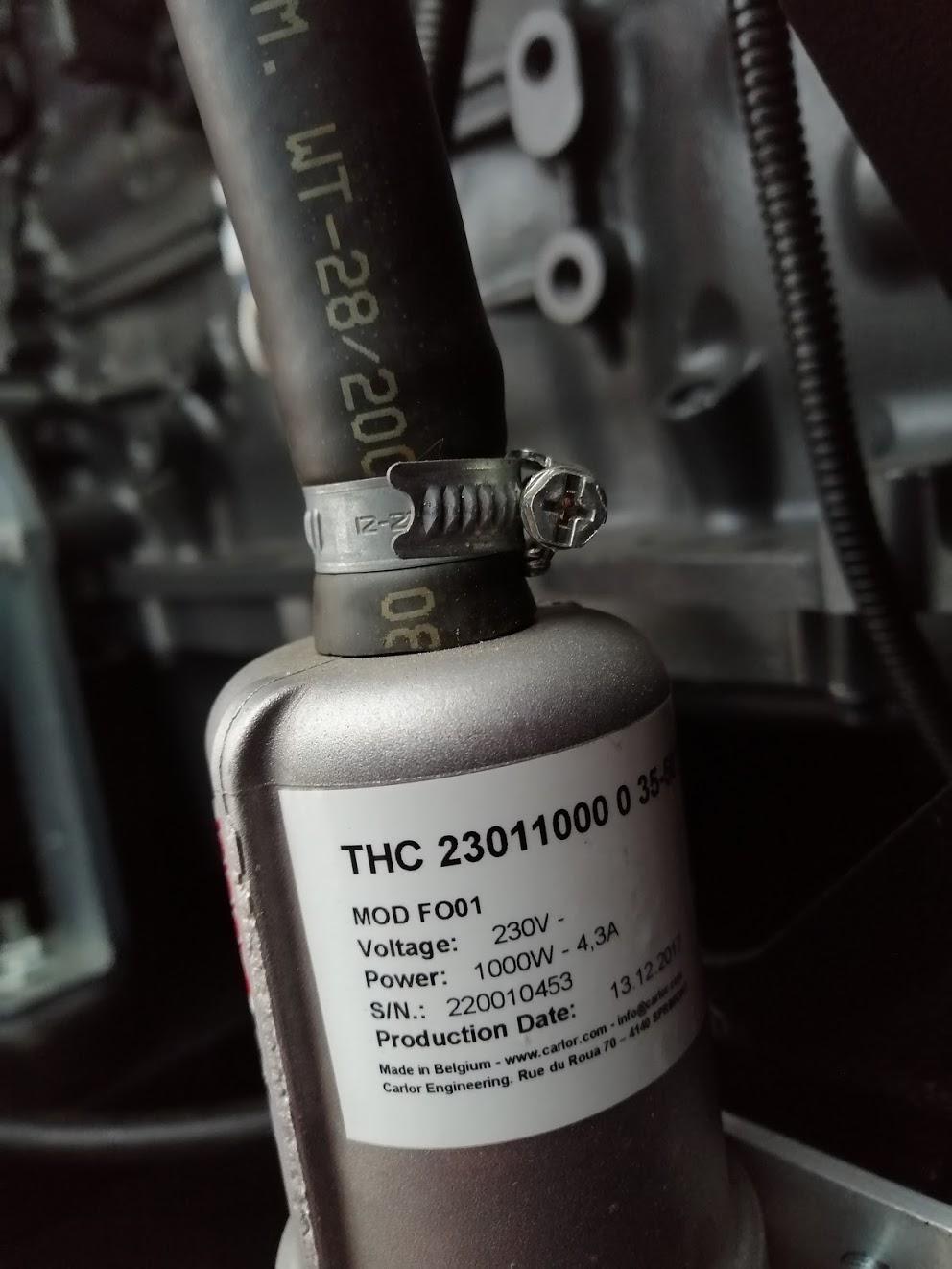 подогреватель охлаждающей жидкости termocar tnc2301 500-0-3550